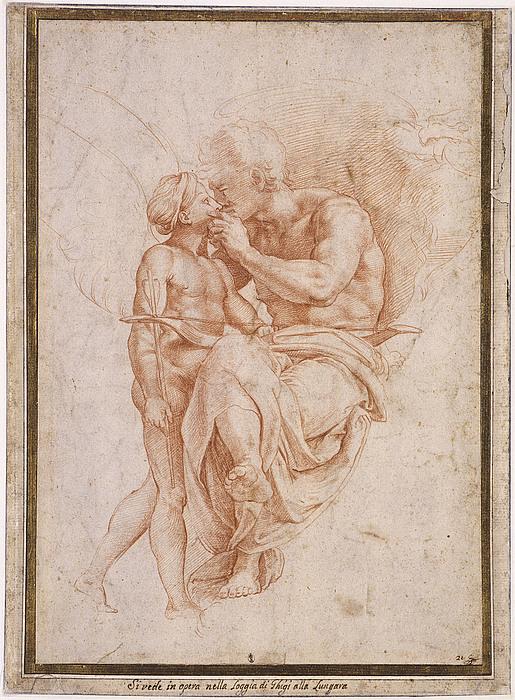 Kopist efter Raffaello Sanzio: Jupiter og Amor
