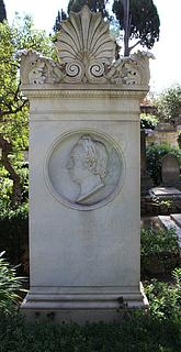 Gravmæle for J.C. Reinhart, Cimitero Acattolico