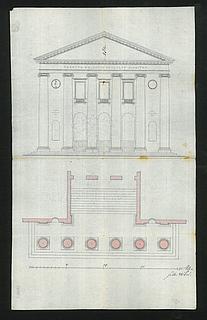 C.F. Hansen, Plan og opstalt af Domhusets tempelfront