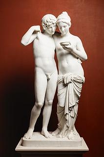 G. C. Freund efter Thorvaldsen: Amor og Psyche, 1861 (Copyright tilhører Thorvaldsens Museum)