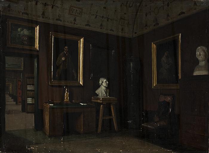 Rummet med Thorvaldsens møbler i Thorvaldsens Museum