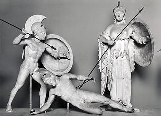 Ægineterne, vestgavlen, Afaia-templet, Ægina, omkring 500 før vor tidsregning