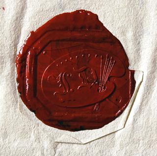 Dahls laksegl, på brev til J.H.W. Wagner, Berlin, 20.11.1829, Fondation Custodia, Paris, inv.nr. 1971-A.253