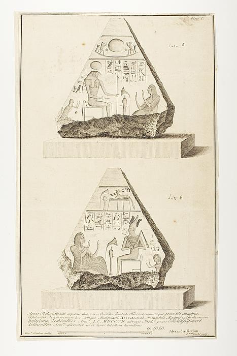 Toppen af en obelisk fra to sider