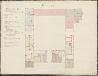 Plan of the basement of Charlottenborg Palace_, © Danish National Art Gallery
