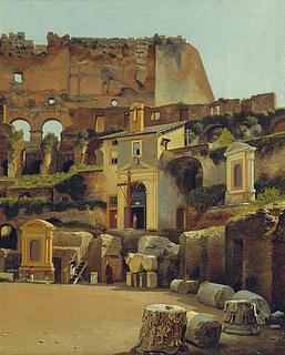 Det indre af Colosseum i Rom