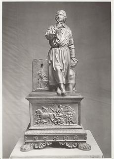 Alessandro Puttinati: Portræt af Thorvaldsen, 1830'erne, ukendt opholdssted, foto 1936