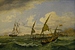 Havbugten ved Napoli, i den forreste båd sidder Thorvaldsen og Thöming sammen med flere rejsende