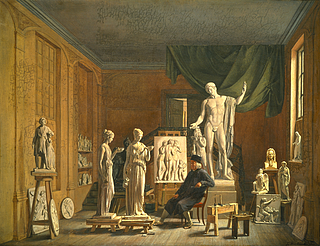 Thorvaldsen in his Studio at the Academy of Fine Arts in Copenhagen
