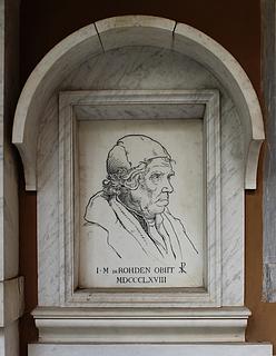 Gravmæle for J.M. Rohden, Campo Santo Teutonico