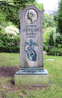 Gravmæle, H.P. Holst, Holmens Kirkegård, foto 2020