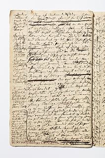Christine Stampes manuskript om Thorvaldsen, side 43