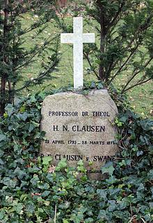 H.N. Clausens grav, Assistens Kirkegård, København, foto 2016