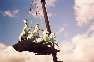 Herman Wilhelm Bissen: Heste til Victorias quadriga, 1845-1848