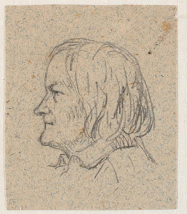 P.C. Skovgaard: Profilportræt af Thorvaldsen