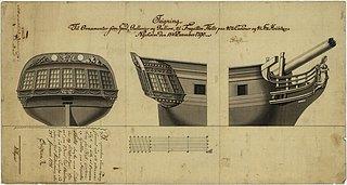 E.W. Stibolt: Thetis, opstalter, 1790, 735 x 390 mm, Orlogsbasen