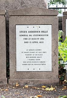 Gravmæle, Steen Bille, Holmens Kirkegård, foto 2020
