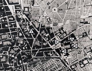 Pietro Ruga: Pianta della Città di Roma, 1824