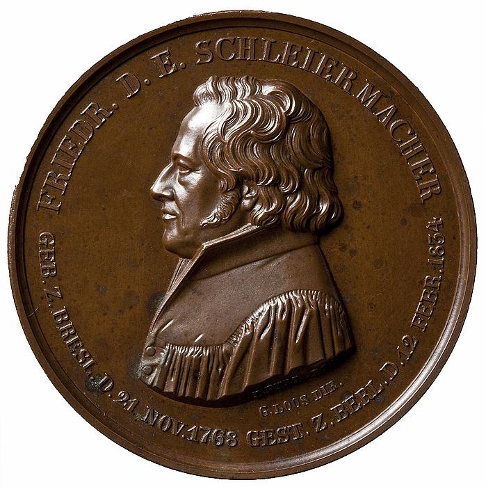Medalje forside: Friedrich Schleiermacher