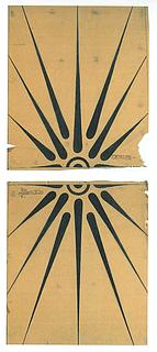 H.C. From: Skitse til soltegnsdekorationen i Kristussalens port