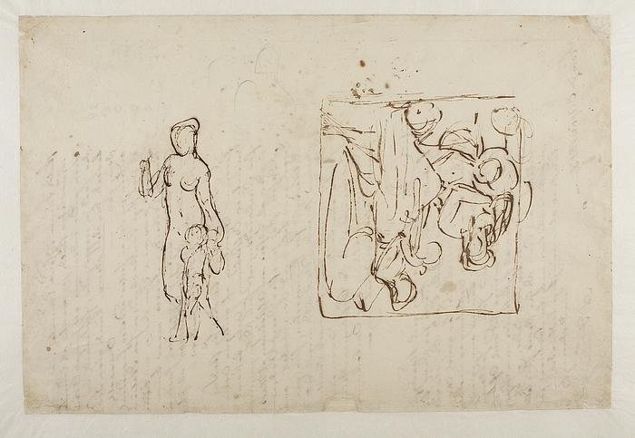 Gravmæle over Johann Philipp Bethmann-Hollweg. Venus og Amor