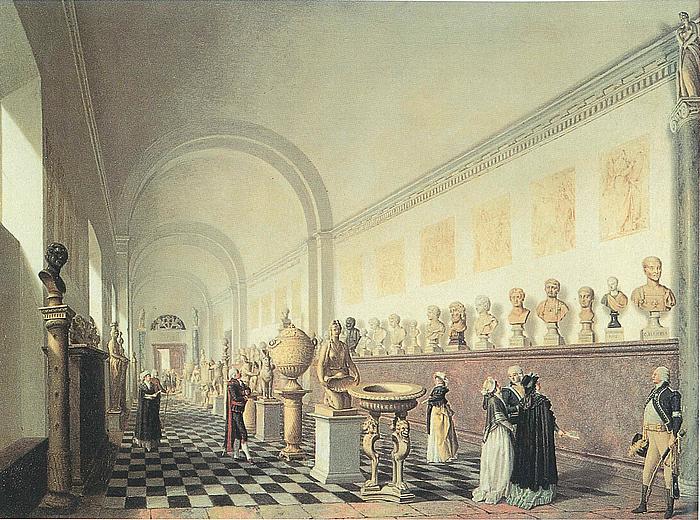 Pehr Hilleström: Mindre galleriet i Kongl. Museum, 1790'erne.