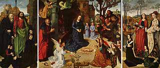 Hugo van der Goes, Portinari-alter, ca. 1475, Galleria degli Uffizi, Firenze