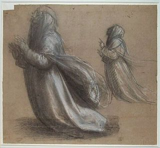 Fra Bartolommeo: Two Studies for the Kneeling St Catherine of Siena, c. 1508-1509, Stichting Museum Boijmans Van Beuningen, Rotterdam