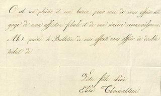 Elisas brev af 2.10.1828 til hendes far og mor