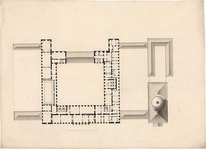 C.F. Hansen, Christiansborg Slot, Kongens etage, inv.nr. 9343 c