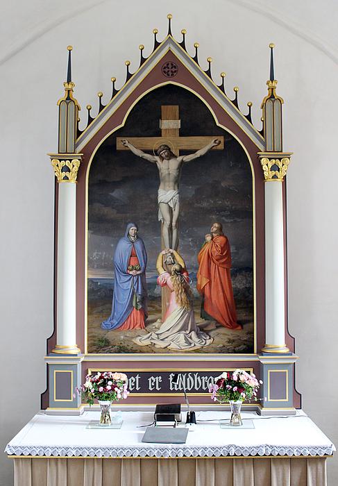 J.L. Lund: Korsfæstelsen, Holtug kirke