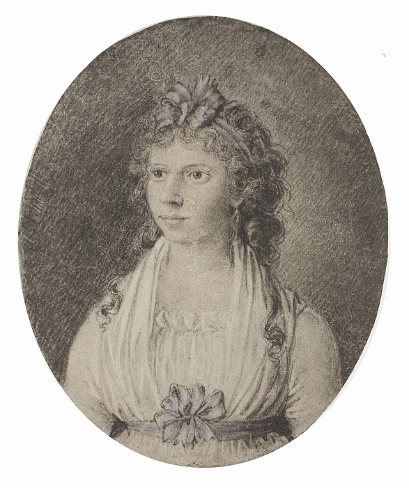 Portræt af Maren Schou West, f. Grønlund