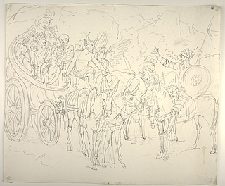Don Quixote og Sancho Panza møder en gruppe artister
