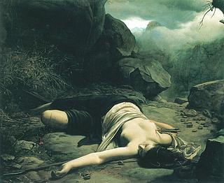 Ludvig Abelin Schou: Chione dræbt på jagten af den krænkede Diana, 1866