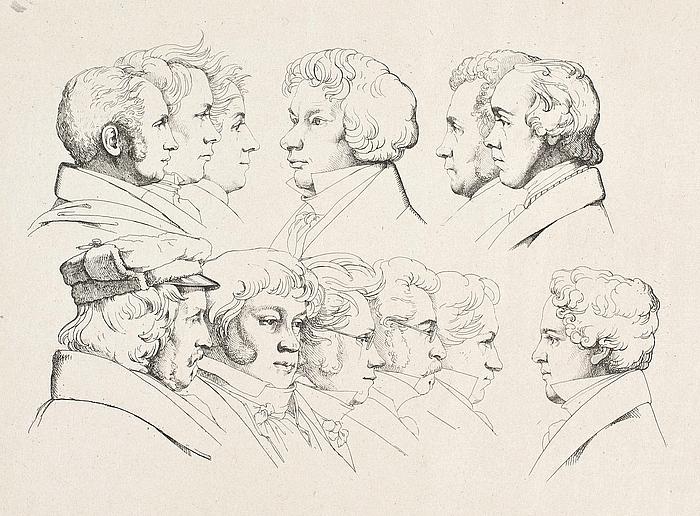 Ernst Meyer: 12 portrætter, sandsynligvis Juleaften 1824, Rom