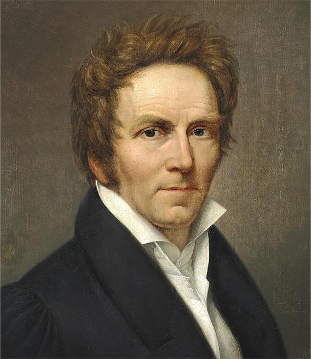J.L. Lund: Selvportræt, 1827