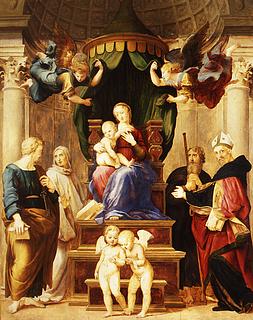 Raffaello Sanzio: Madonna del Baldachino, 1507-1508 (Copyright tilhører Gabinetto Fotografico)