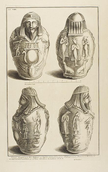 Kanoper dekoreret med figurer