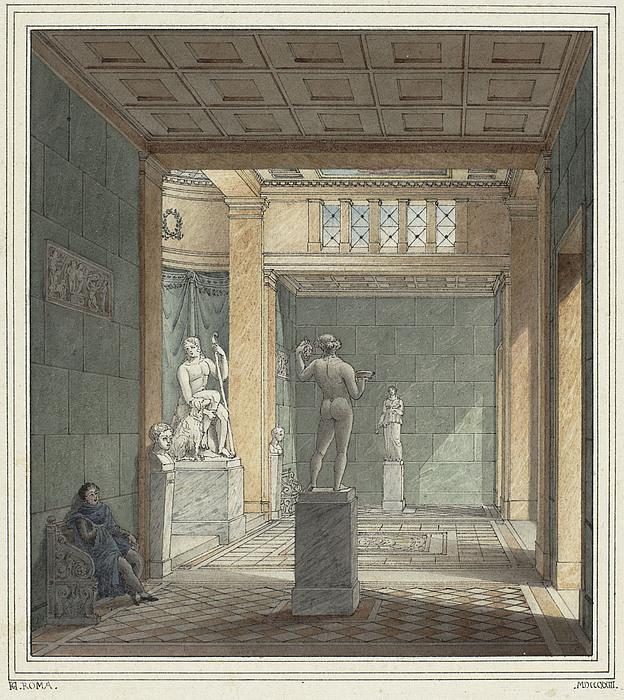 Forslag til skulpturgalleri, interiør
