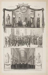 Ubekendt kunstner: Mindeblad i anledning af Thorvaldsens begravelse, 1844 - Copyright tilhører Thorvaldsens Museum