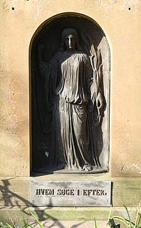 J.A. Jerichau og Elisabeth Jerichau Baumann, gravmæle, Solbjerg kirkegård, Frederiksberg