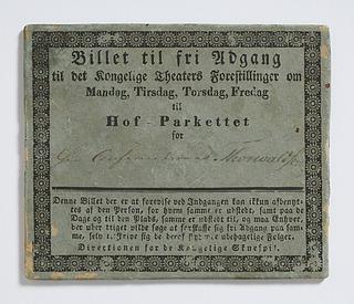 Thorvaldsens billet til Det Kongelige Teater