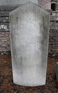 Gravmæle for Evalina Stading, Cimitero Acattolico