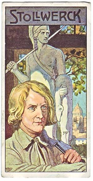 Thorvaldsen Stollwerck Chokoladekort 1908