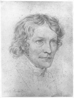 Gustav Adolf Hippius: Bertel Thorvaldsen, blyant, 25,6 x 19,5 cm, 1816-18. Signatur f.n.t.v.: Alberto Thorwaldsen (af Thorvaldsen selv)