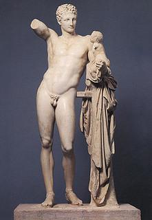 Hermes med Dionysosbarnet - Public domain