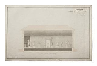 Thorvaldsens Museums forhal, længdesnit