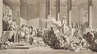 J.F. Clemens. Lodtrækning af den atheniensiske ungdom