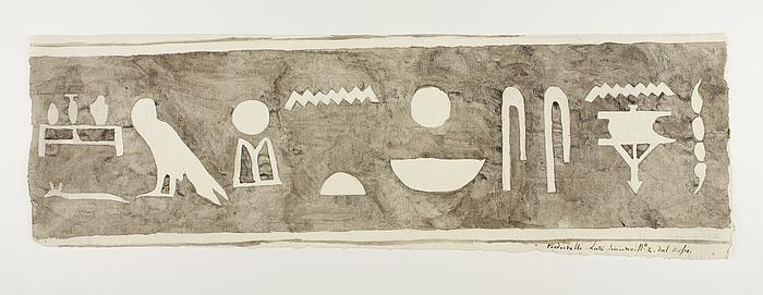 Hieroglyfindskrift, andet brudstykke fra bagsidens venstre side