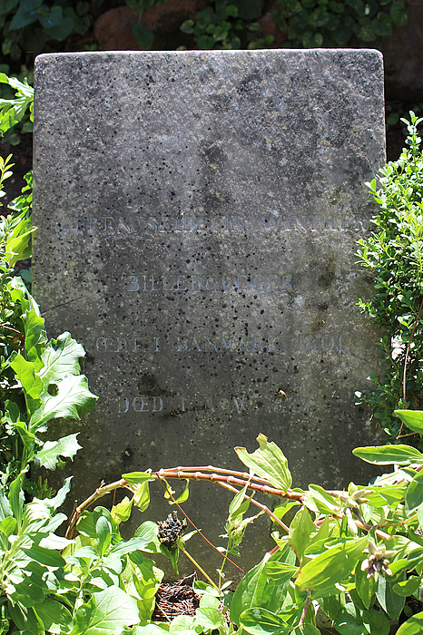 Gravmæle for S.S. Winther, Cimitero Acattolico